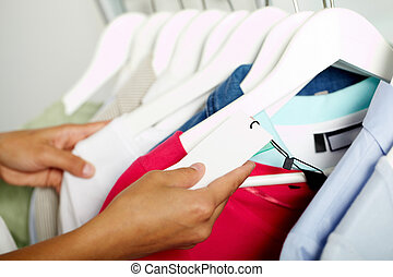procurar, roupas