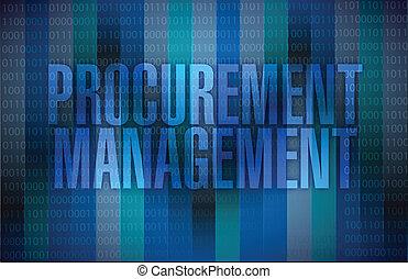 procurement management binary illustration