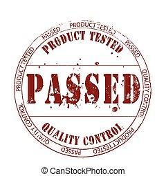 procutc tested ,passed ,quality control