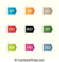 prodávat v malém, prapor, dát