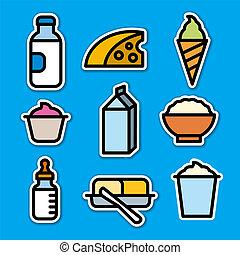 prodotti, adesivi, latte