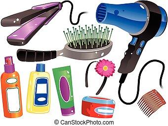 prodotti, capelli
