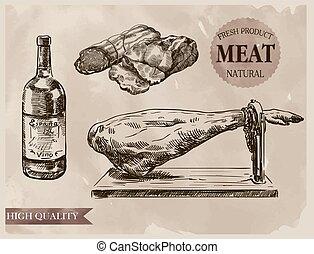 prodotti, il più alto, naturale, carne, qualità