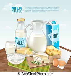 prodotti, latte, fondo