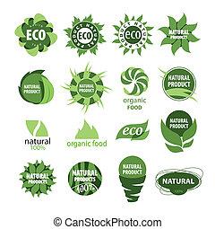 prodotti, naturale, icone