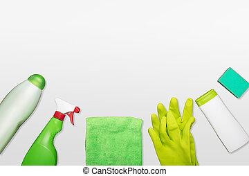 prodotti, pulizia, vista elevata