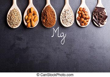 prodotti, ricco, in, magnesio