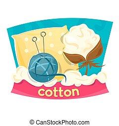 prodotti, vettore, illustrazione, cotone