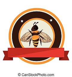prodotto, ape, naturale, icona