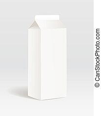 prodotto, carta, contenitore, latte