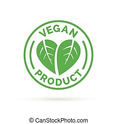 prodotto, cibo, simbolo, vegan, vettore, icona