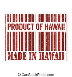 prodotto, fatto, hawai, hawai