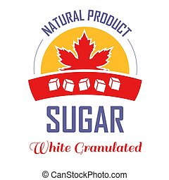 prodotto, foglia, isolato, zucchero, naturale, acero, icona