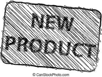 prodotto, francobollo, illustrazione, gomma, vettore, nuovo