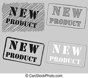 prodotto, illustration., francobollo, gomma, vettore, nuovo