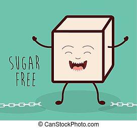 prodotto, libero, zucchero