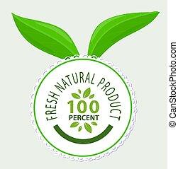 prodotto, %, naturale, emblema, fresco, 100, qualità