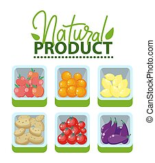 prodotto, naturale, veggies, mercato, frutte