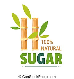 prodotto, organico, canna zucchero, isolato, zucchero, fattoria, naturale, icona
