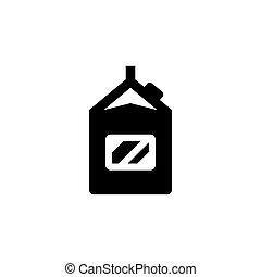prodotto, pacchetto, latte, icona