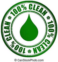prodotto, simbolo, pulito
