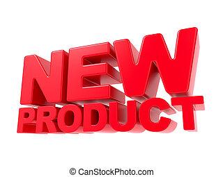 prodotto, -, text., nuovo, rosso, 3d