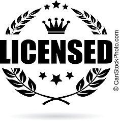 prodotto, vettore, concesso in licenza, icona