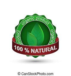 prodotto, vettore, naturale, icona