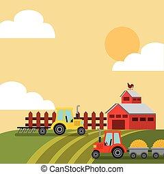 producao, agricultura, paisagem, ícone