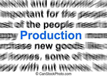 producción, concepto