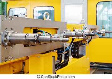 producción del coche, línea, equipo, primer plano