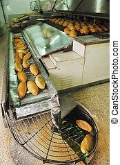 producción, fábrica, bread