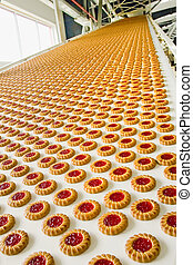 producción, galleta, fábrica