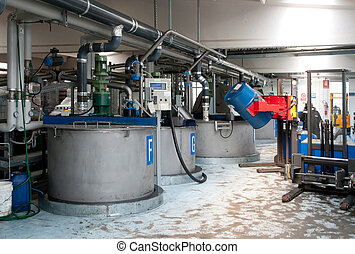 producción, industrial, aceite
