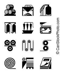 producción, papel, industrial