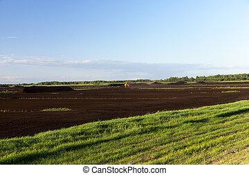 producción, turba, paisaje