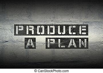 produce a plan gr
