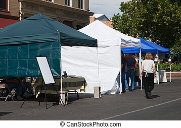 Produce Market - Tents for a downtown produce market