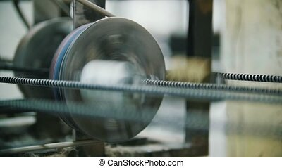 Producing fiberglass rods - manufacture of composite...