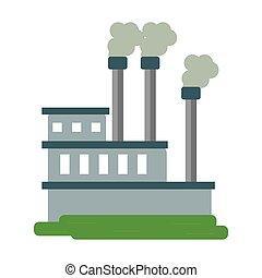 producir, industria, gas, fábrica