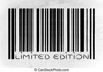 product bar code with limited edition message - product bar...