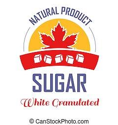 product, blad, vrijstaand, suiker, natuurlijke , esdoorn, pictogram