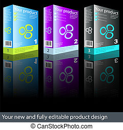 Product design - Fully editable new product box design.