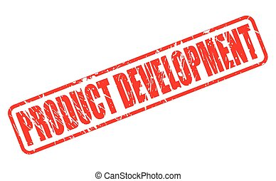 PRODUCT DEVELOPMENT red stamp text