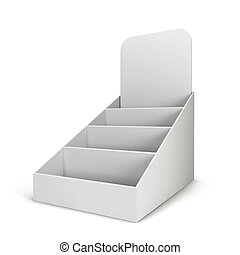 Product display. 3d illustration isolated on white...