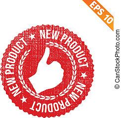 product, eps10, postzegel, -, illustratie, rubber, vector, nieuw