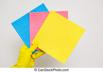 Product for professional cleaning on white background