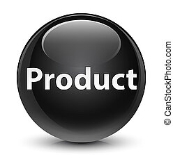 Product glassy black round button