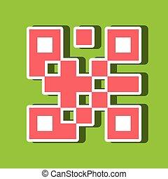product identification code design, vector illustration...