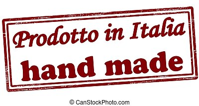 Product in Italia - Stamp with text product in Italia...